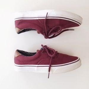 VANS Burgundy Sneakers